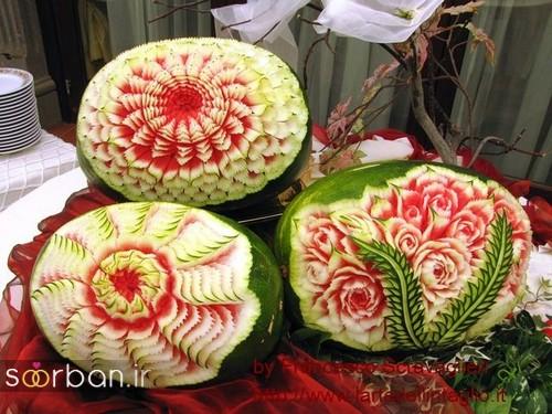 تزیین هندوانه شب یلدا-5