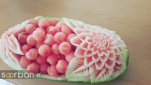 تزیین هندوانه شب یلدا-10