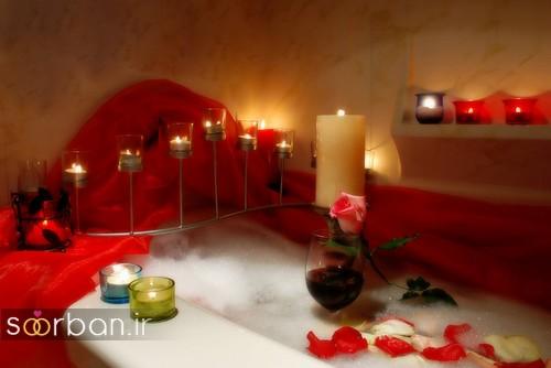تزیین رمانتیک حمام عروس-3