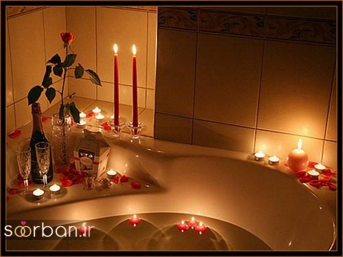 تزیین رمانتیک حمام عروس-5