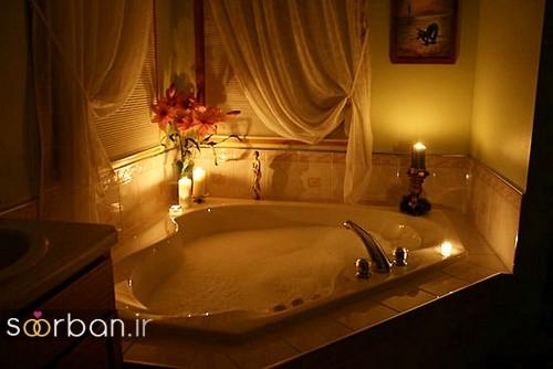 تزیین رمانتیک حمام عروس-10
