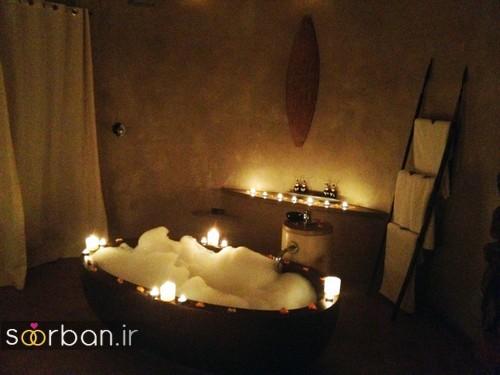 تزیین رمانتیک حمام عروس-14