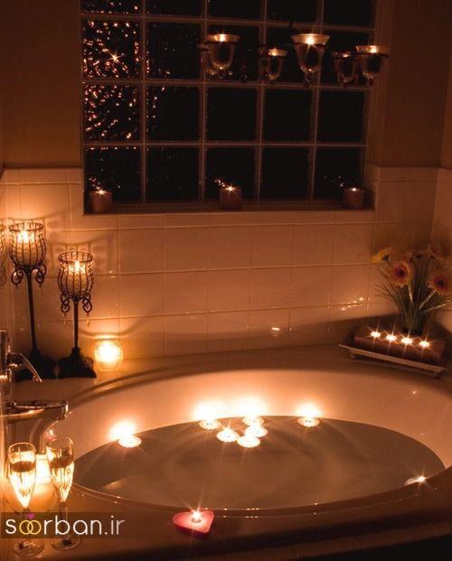 تزیین رمانتیک حمام عروس-16