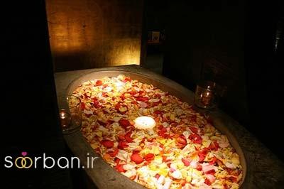 تزیین رمانتیک حمام عروس-18
