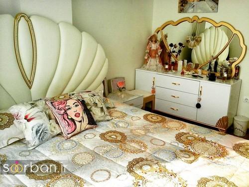 چیدمان و تزیین اتاق خواب جهیزیه عروس-5