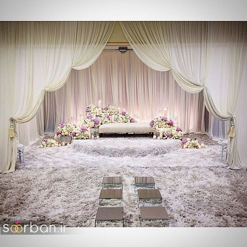 تزیین جایگاه عروس و داماد بله برون -1