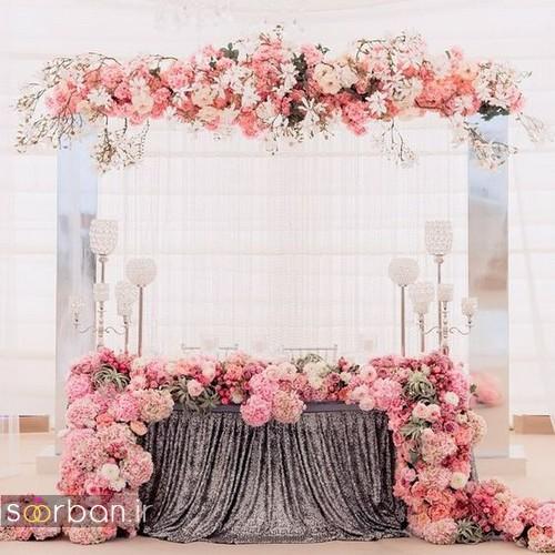 تزیین جایگاه عروس و داماد بله برون -03