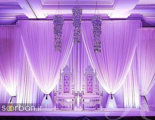 تزیین جایگاه عروس و داماد بله برون -5