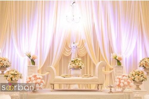 تزیین جایگاه عروس و داماد بله برون -11