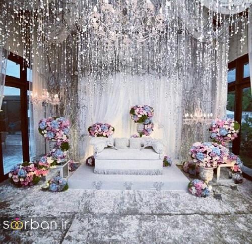 تزیین جایگاه عروس و داماد بله برون -13