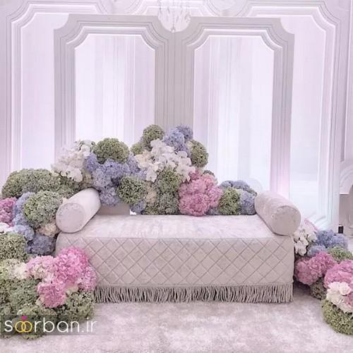 تزیین جایگاه عروس و داماد بله برون -15