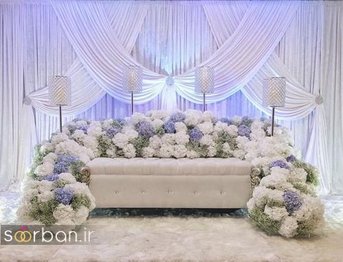 تزیین جایگاه عروس و داماد بله برون -16