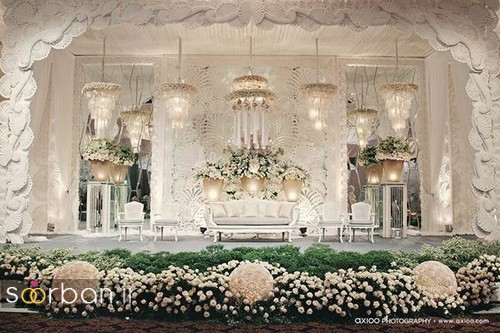 تزیین جایگاه عروس و داماد بله برون -24