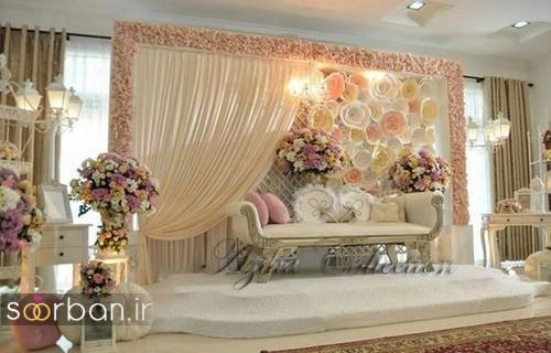 تزیین جایگاه عروس و داماد بله برون -25