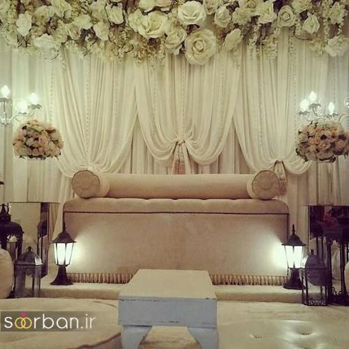 تزیین جایگاه عروس و داماد بله برون -26