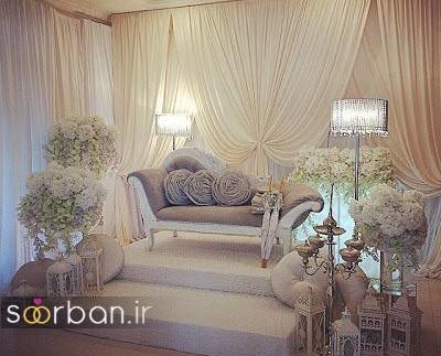 تزیین جایگاه عروس و داماد بله برون -29