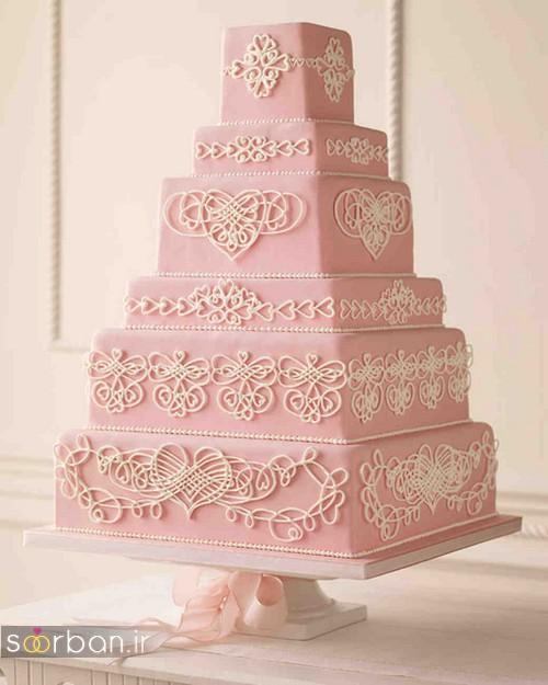 کیک عروسی رمانتیک و زیبا 2017-01