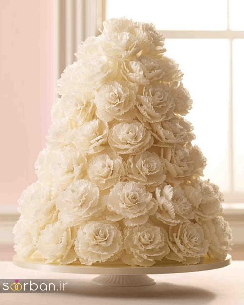 کیک عروسی رمانتیک و زیبا 2017-2