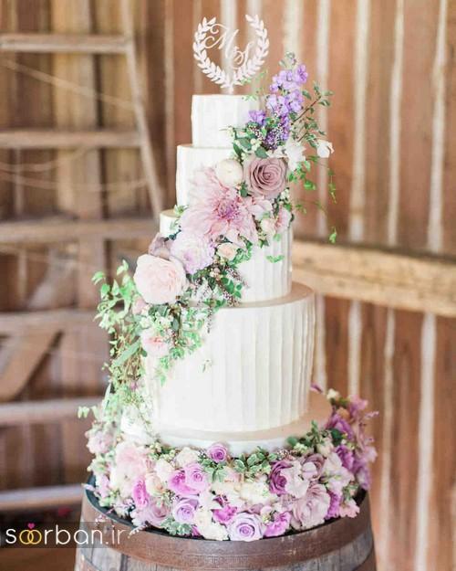 کیک عروسی رمانتیک و زیبا 2017-3
