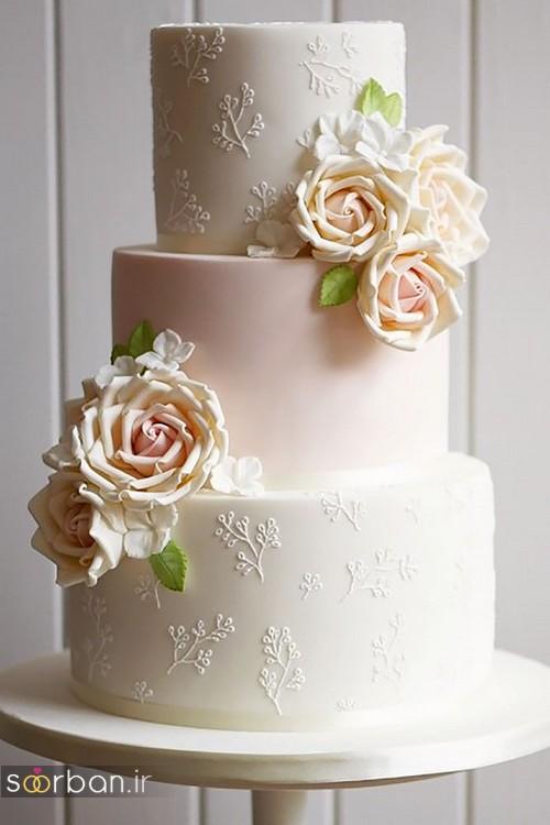 کیک عروسی رمانتیک و زیبا 2017-04