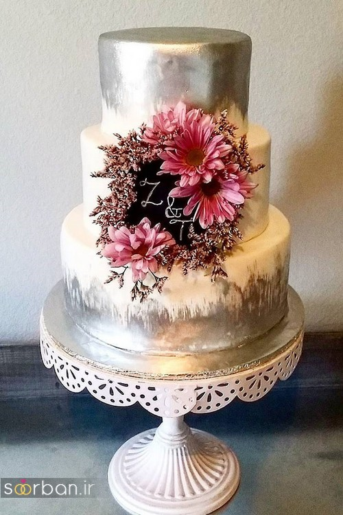 کیک عروسی رمانتیک و زیبا 2017-6