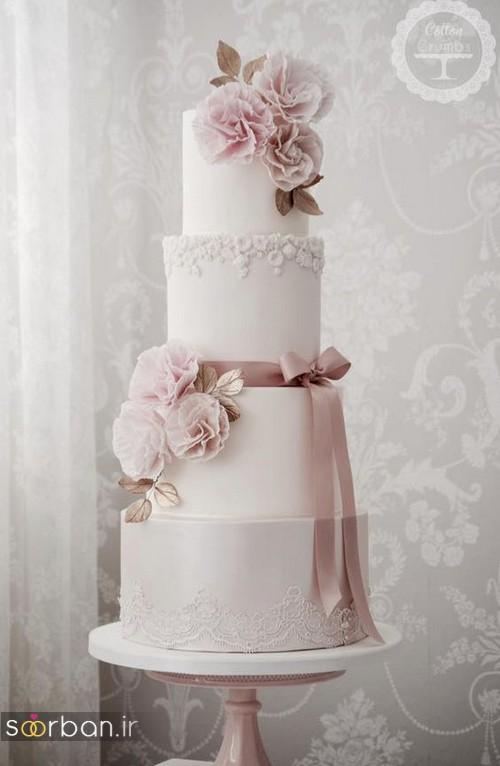 کیک عروسی رمانتیک و زیبا 2017-12