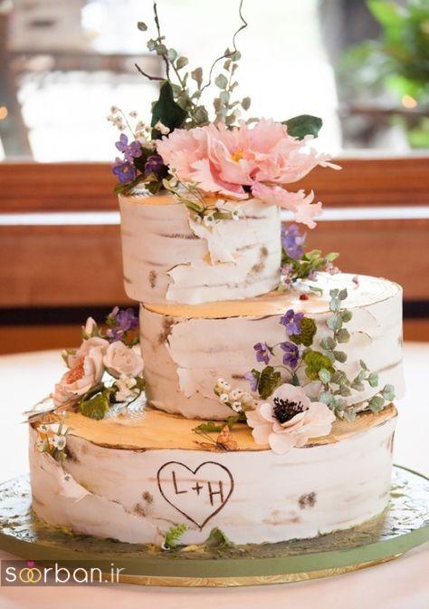 کیک عروسی رمانتیک و زیبا 2017-16