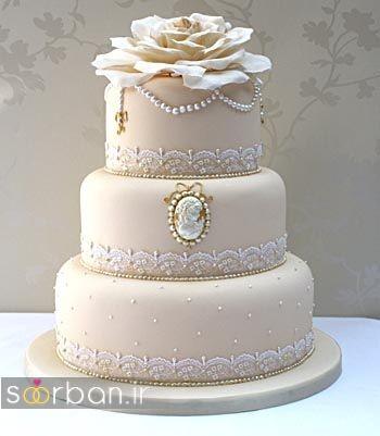 کیک عروسی رمانتیک و زیبا 2017-20