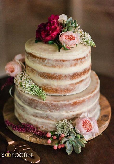 کیک عروسی رمانتیک و زیبا 2017-22