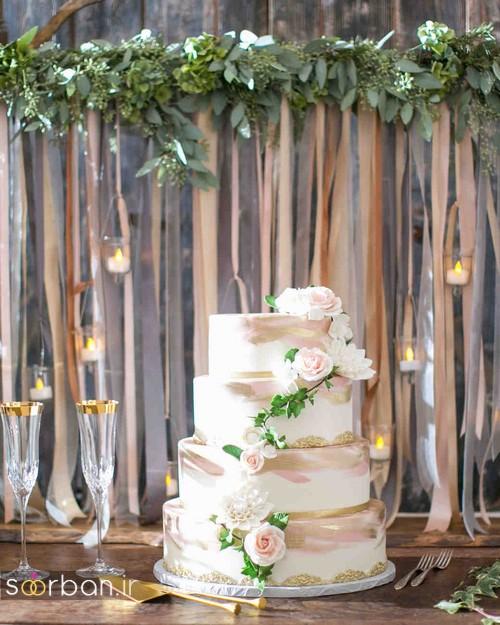 کیک عروسی رمانتیک و زیبا 2017-23