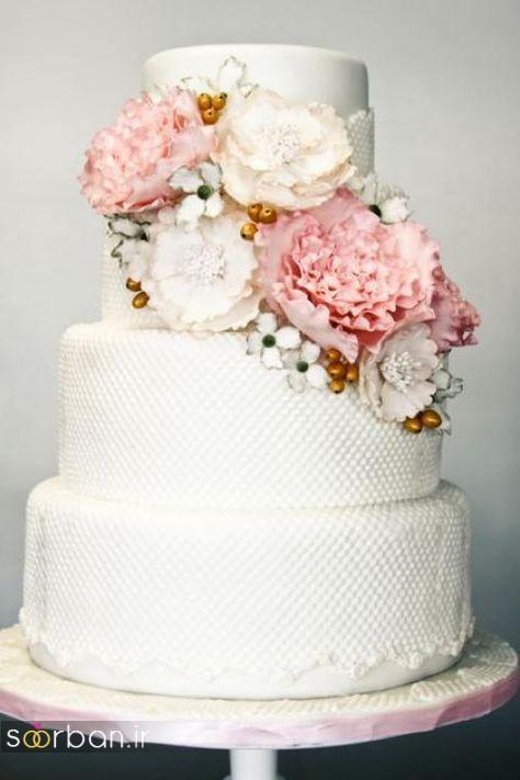 کیک عروسی رمانتیک و زیبا 2017-24