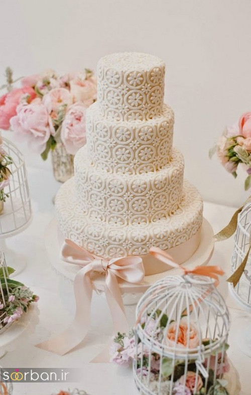 کیک عروسی رمانتیک و زیبا 2017-27