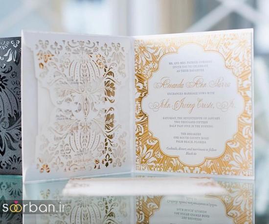 جدیدترین کارت های عروسی 2018 لوکس و خاص -3