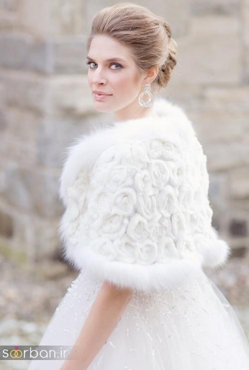 کت و شنل لباس عروسی جدید و شیک4