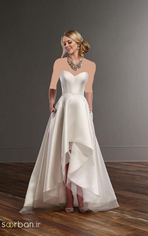 مدل لباس عروس جلو کوتاه پشت بلند دکلته