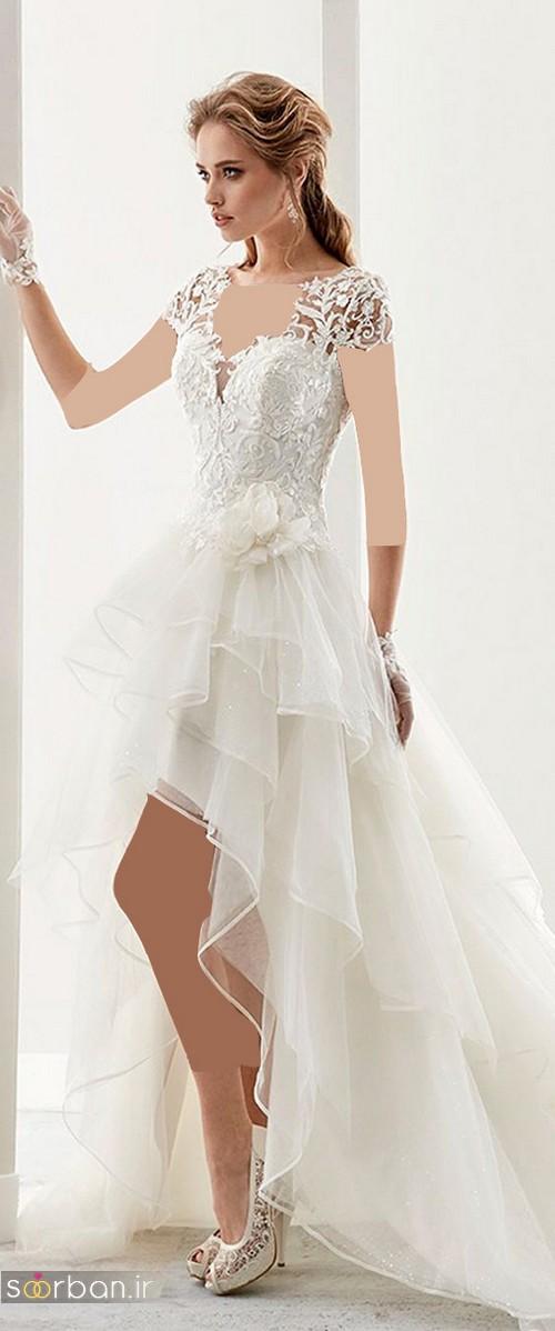 لباس عروس جلو کوتاه پشت بلند جدید و شیک