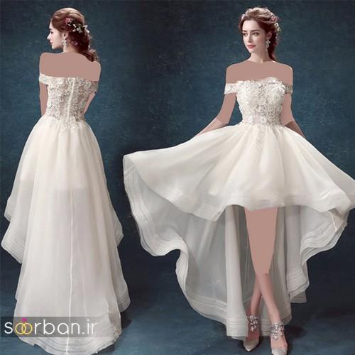 لباس عروس جلو کوتاه پشت بلند شیک