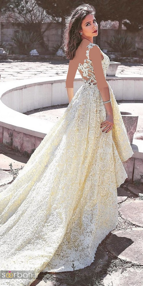 لباس عروس جلو کوتاه پشت بلند 2017