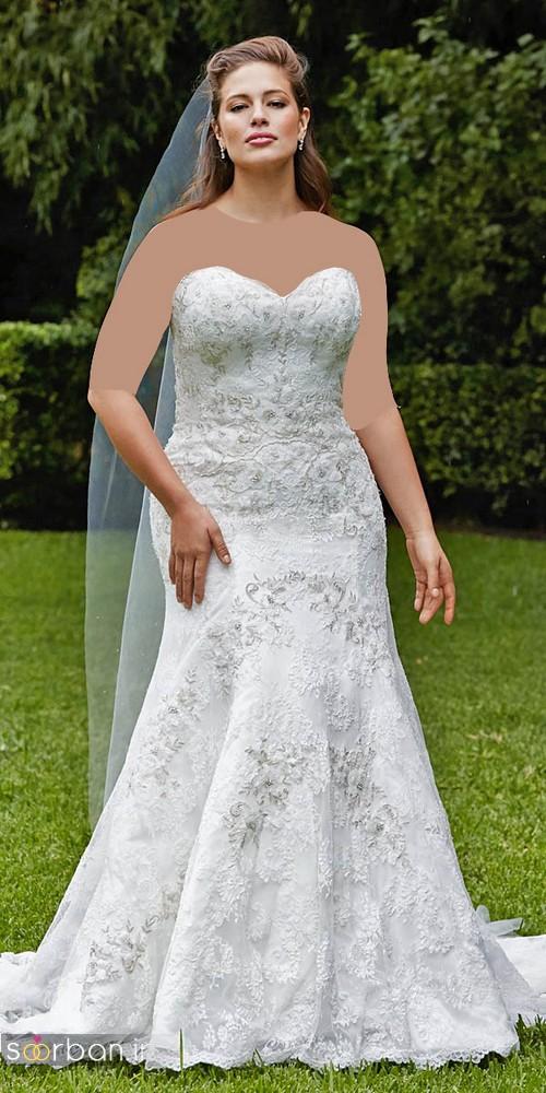 مدل لباس عروس دکلته سایز بزرگ 2017 برای عروس های درشت اندام