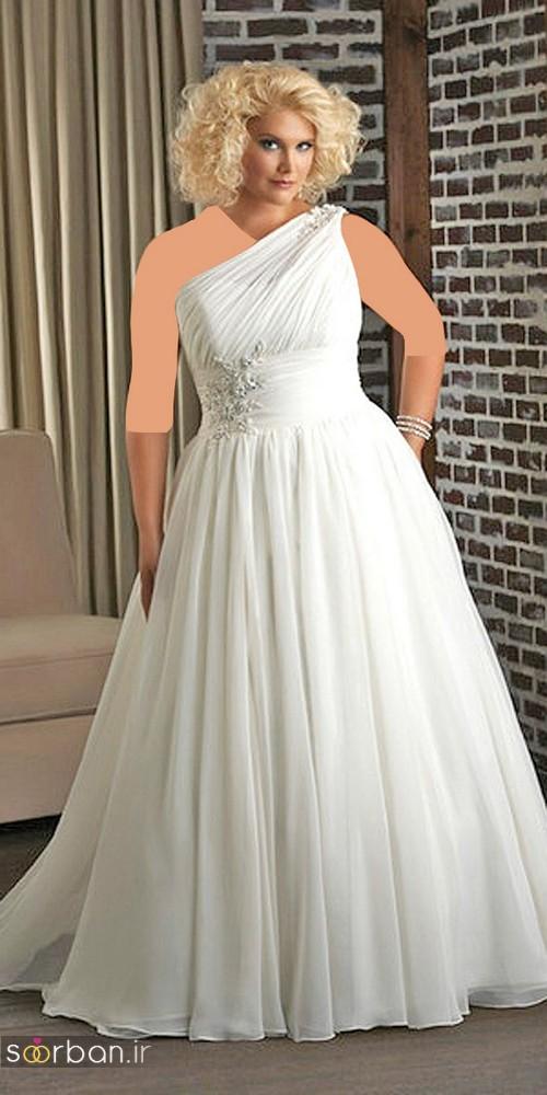 مدل لباس عروس یونانی سایز بزرگ 2017 برای عروس های درشت اندام و تپل