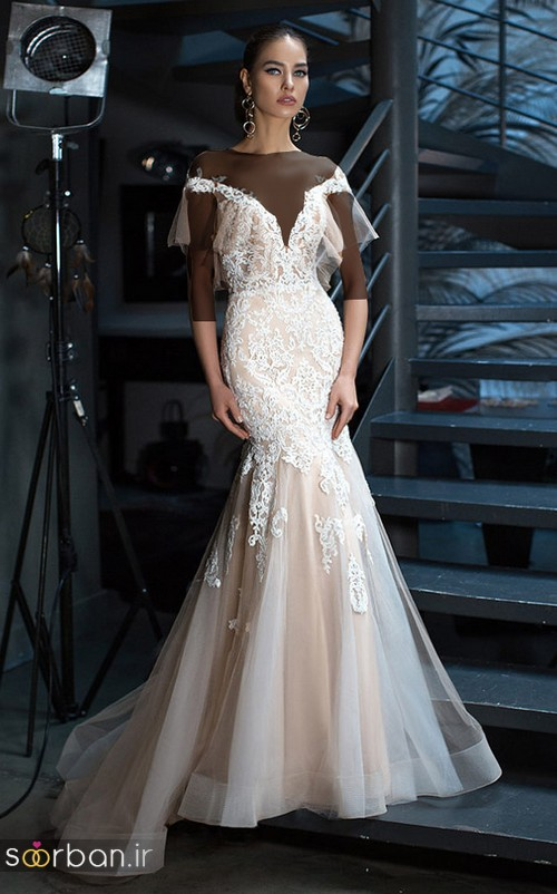 مدل لباس عروس جدید 2018 و سال 97  دامن ماهی