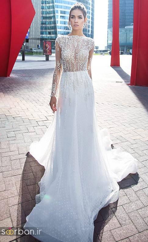 مدل لباس عروس جدید 2018 و سال 97 جدید تور دانتل