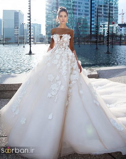 مدل لباس عروس جدید 2018 و سال 97 دامن پفی