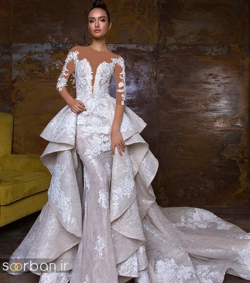 پارچه دانتل لباس عروس مدل لباس عروس جدید سال 2018 با طرح های بسیار زیبا و جدید