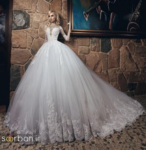 لباس عروس پفی 2018 شیک جدید زیبا