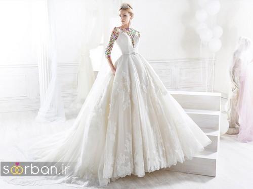 لباس عروس پفی 2018 شیک