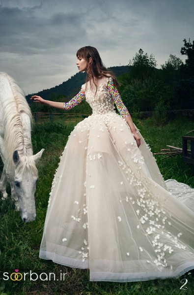 لباس عروس پفی 2018 شیک و خوشگل