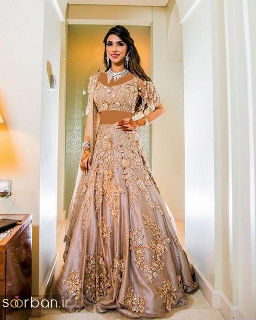 لباس عروس هندی بلند زنانه 2018 جدید-