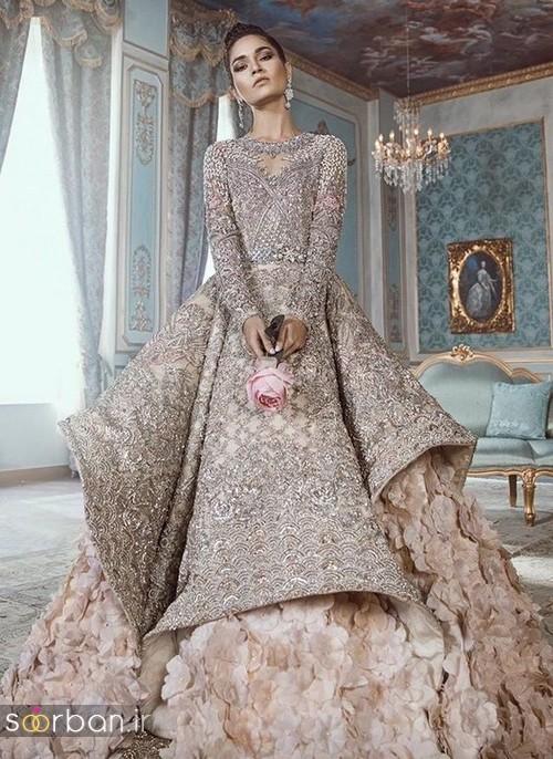 مدل لباس عروس هندی بلند زیبا و بلند 96