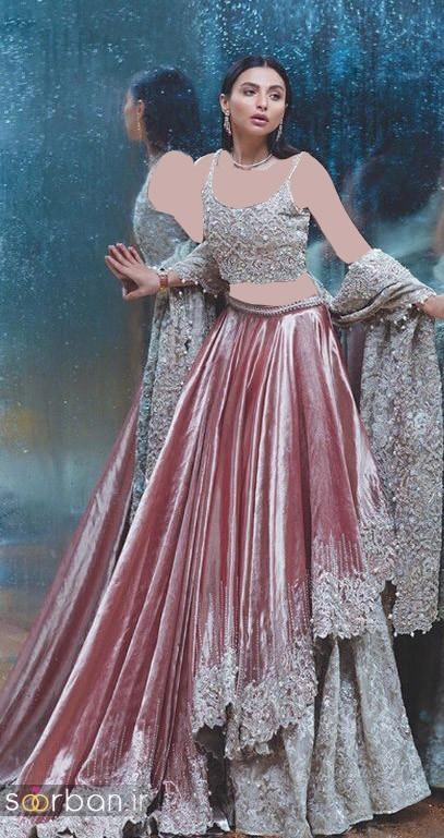 لباس عروس هندی بلند زنانه 2018 جدید
